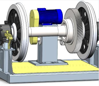 Комплекс автоматизированный обкатки и вибродиагностики подшипниковых узлов колесных пар локомотивов СВ-ТК-05