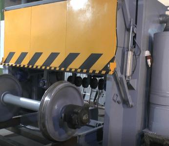 Установка сухой очистки колесных пар грузовых вагонов УСО-ТК